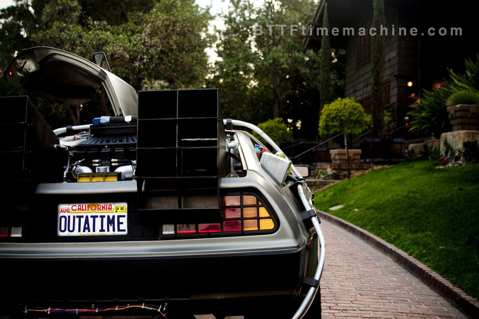 The Delorean Time Machine Rear Vents