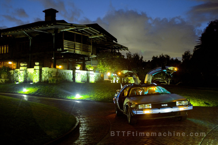 Delorean With Gullwings Aloft