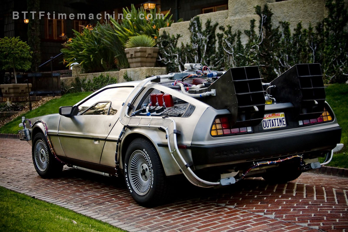 Delorean Time Machine Daytime Driver's Side Rear